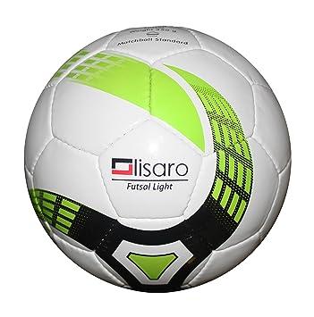 Balón de fútbol sala, talla 4/350 g blanco y verde: Amazon.es ...