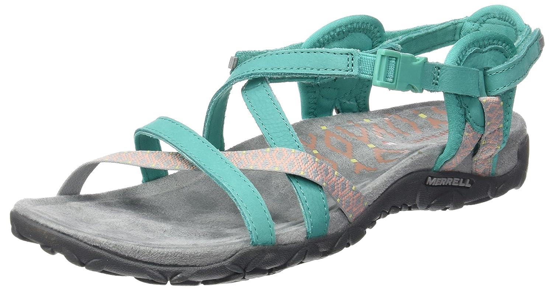 Crocs Cleo V Sandal Women, Sandalias con Punta Abierta para Mujer 34/35 EU|Azul (Navy/Light Grey)