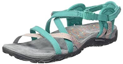 Merrell Women's Terran Lattice II Sandal, Atlantis, ...