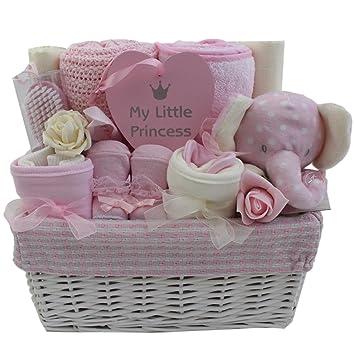 bd2f236d4ce7 Baby Girl Gift Basket Baby Girl Gift Hamper Girl Baby Shower Gift New Baby  Girl Gift: Amazon.co.uk: Baby