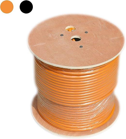 2 RG6QUAD 2 CAT5e Cable 500 Reel Orange