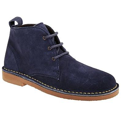 Roamers Damen Desert Boots / Wüstenstiefel / Schuhe, Wildleder, ungefüttert (36 EUR) (Schwarz)