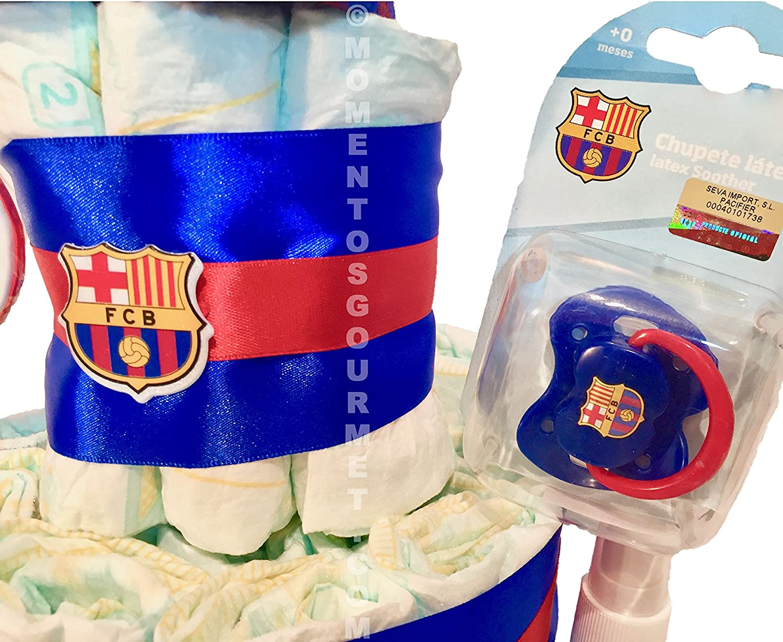 Talla 2 Tarta de pa/ñales DODOT F.C.Barcelona MUSTELA 3-6 kg