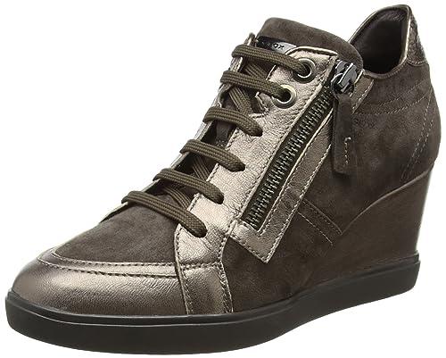 D Eleni a, Zapatillas Altas para Mujer, Negro (Black), 40 EU Geox