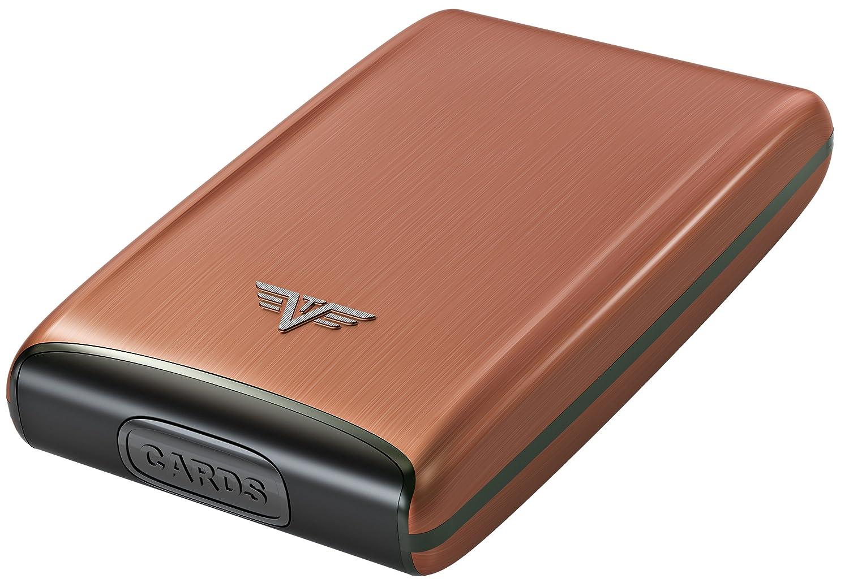 TRU VIRTU Credit Card Case FAN Fan Style RFID Secure Classic Aluminum Exterior 68 x 104 x 20 mm