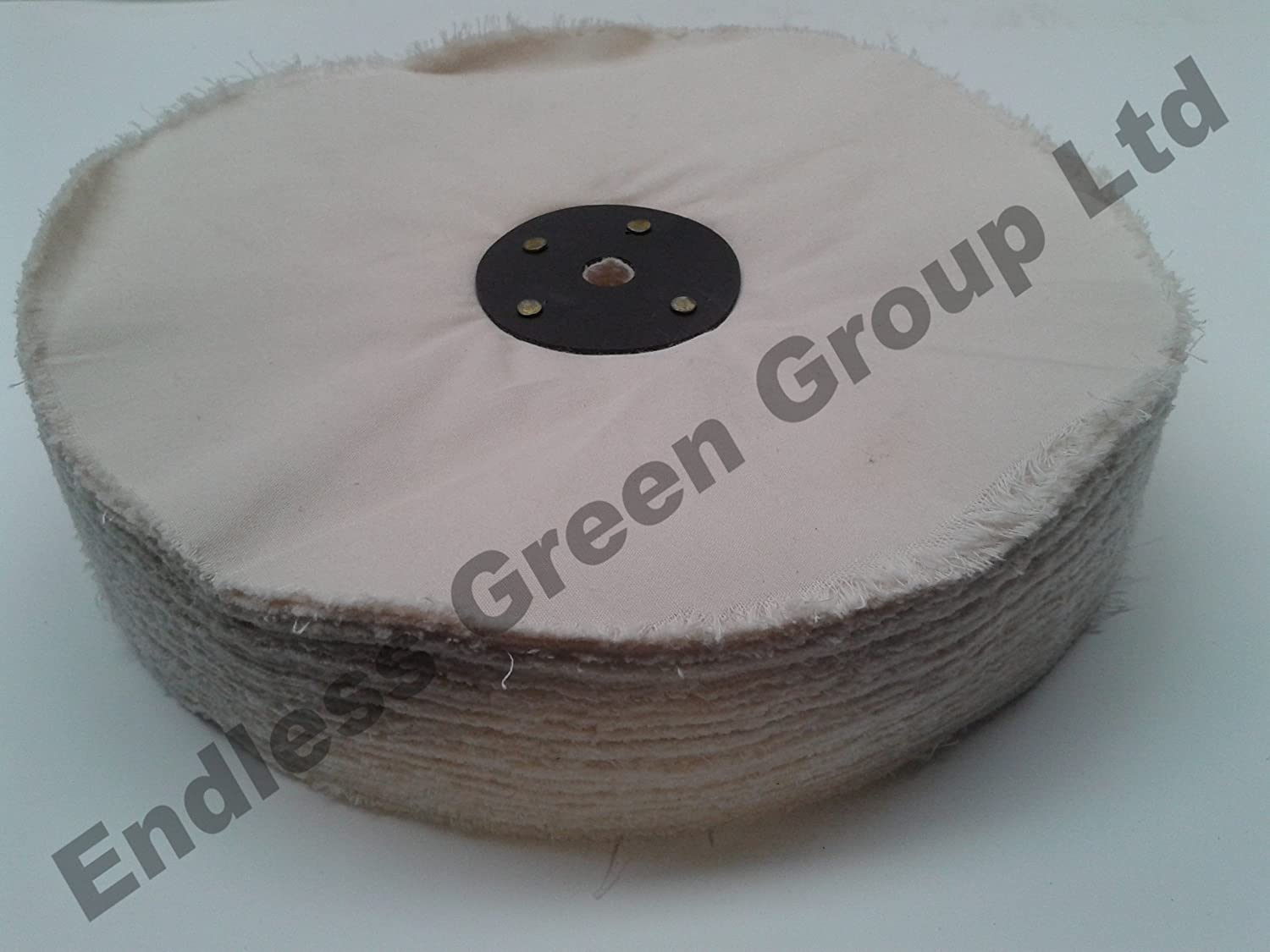 Bolpol LOOSE LEAF Cotton Buffing Wheel, ideal for use on polishing machine or converted Bench Grinder - Polishing Wheel Size 8' x 1.5' (200mm x 40mm) L200/120 Endless Green Group Ltd