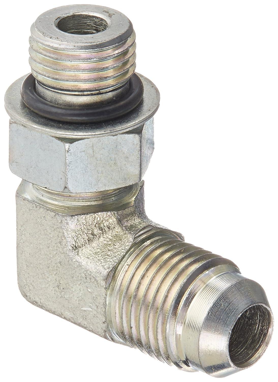 Eaton Aeroquip 2062-5-6S Steel Flared Tube Fitting 90 Degree Elbow 9//16 Male JIC x 1//2 O-Ring Boss Male