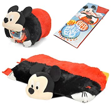 Disney Mickey Mouse saco de dormir dormir almohada Roll Up Set: Amazon.es: Hogar