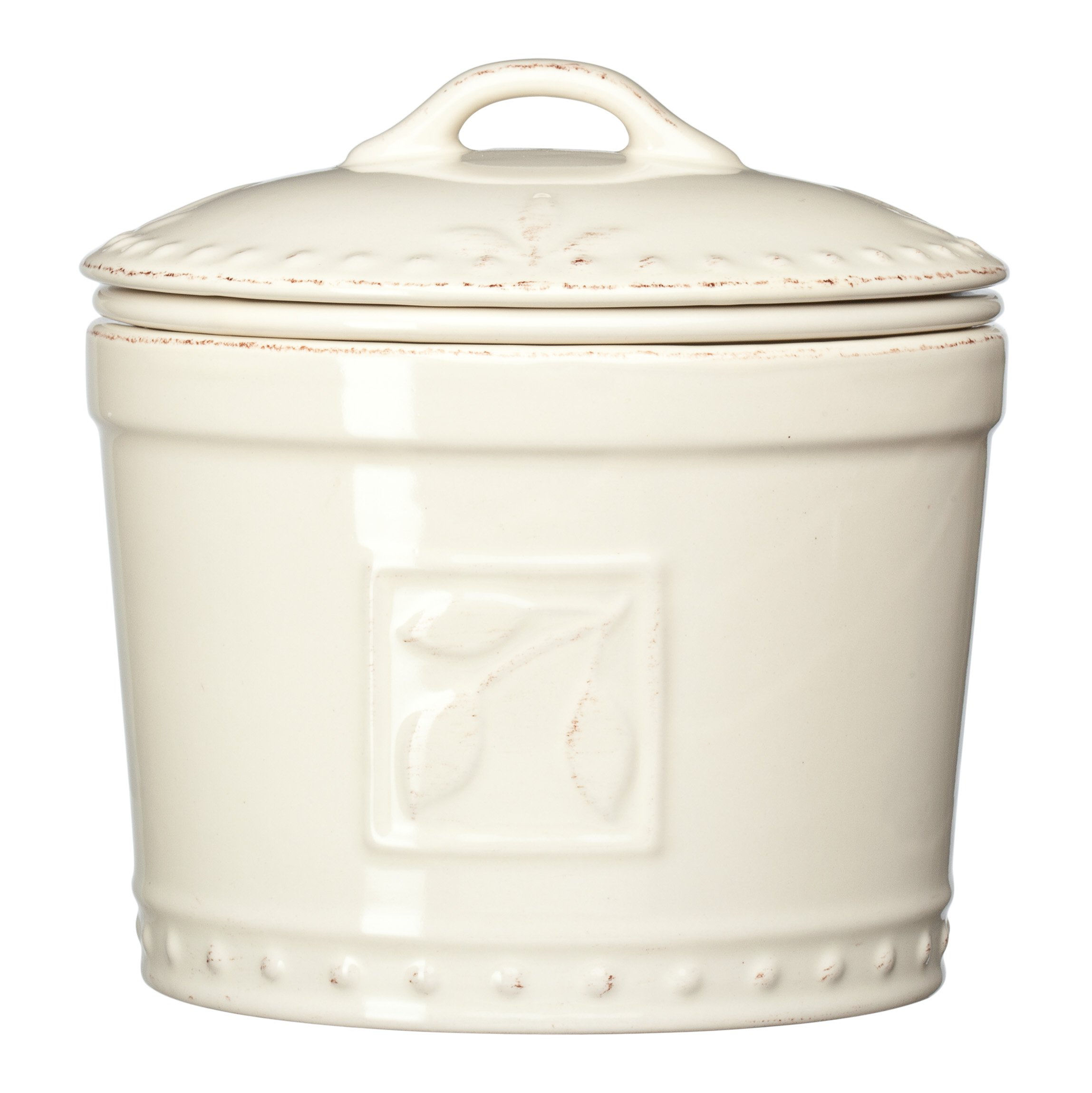 Signature Housewares Sorrento Collection Stoneware Dip Chiller, Ivory Antiqued Finish