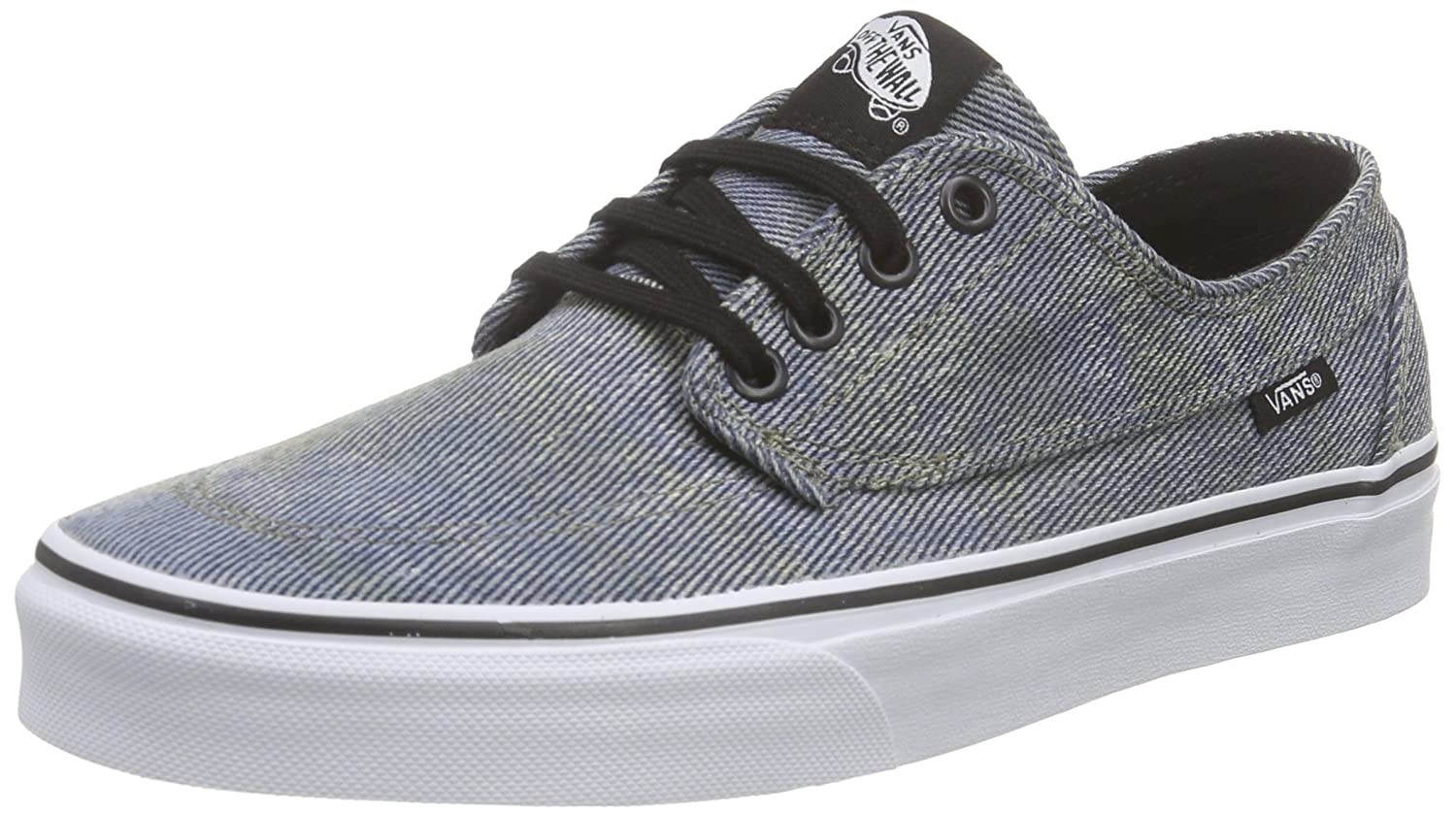 Vans Unisex-Erwachsene Brigata Low-Top  46 EU|Schwarz (Acid Denim/Blue/Black)