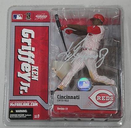 220fe8efe6 Image Unavailable. Image not available for. Color: Ken Griffey Jr. McFarlane  Hand signed Figure Cincinnati Reds ...