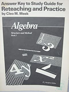 Algebra structure and method new edition book one mary p answer key to study guide for reteaching and practice algebra structure and method fandeluxe Image collections