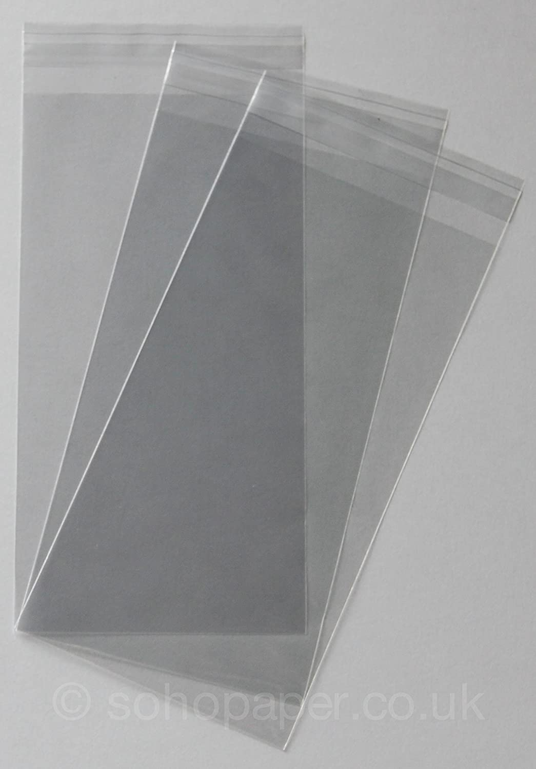 Cellophane Card Display Bags Peel and Seal C5 by Cranberry Pack of 50