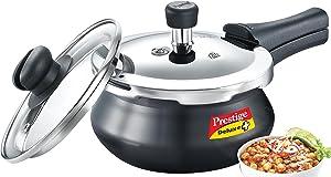 Prestige Deluxe Duo Plus Pressure Cooker, 2 Litre, Black