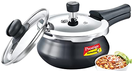0637e7261c2 Image Unavailable. Image not available for. Colour  Prestige Deluxe Duo Plus  Induction Base Aluminum Pressure Cooker (2 ...