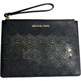 9f4a626a5ecd Michael Kors Jet Set Travel XL Large Lace Zip Clutch Leather Wristlet Purse