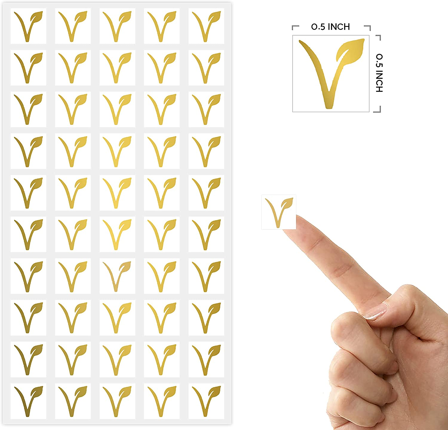 50 Stickers - Carrot, Gold White Square Stickers Wedding Meal Indicator Stickers Sunny Bride Wedding Meal Stickers Wedding Meal Choice Stickers