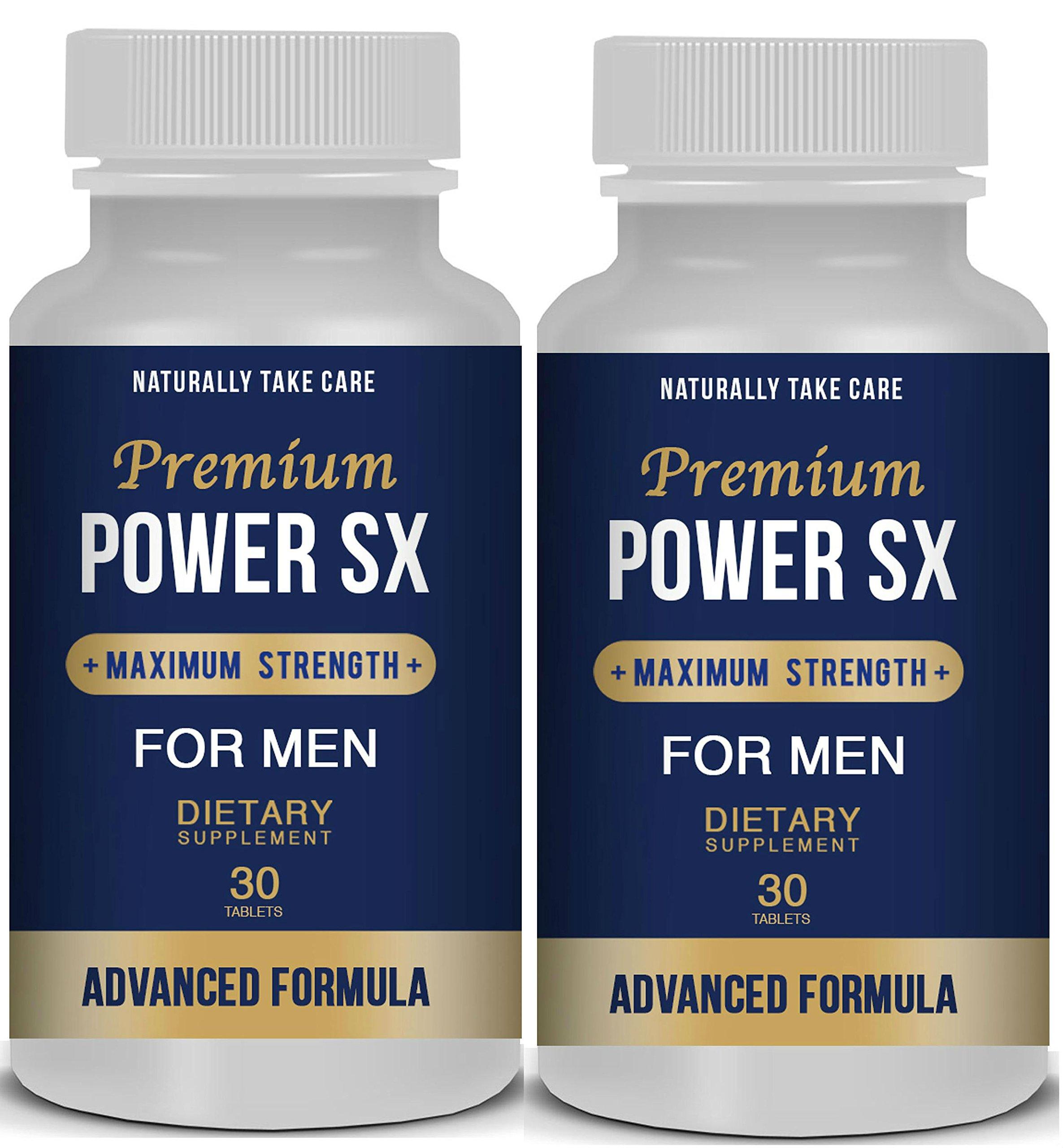 2 x Male Enhancement Pills: Men's Natural Sex Supplement - Sexual Health & Libido Booster - Top Rated Natural Male Enhancement - Sexual Enhancement Pills Stamina.