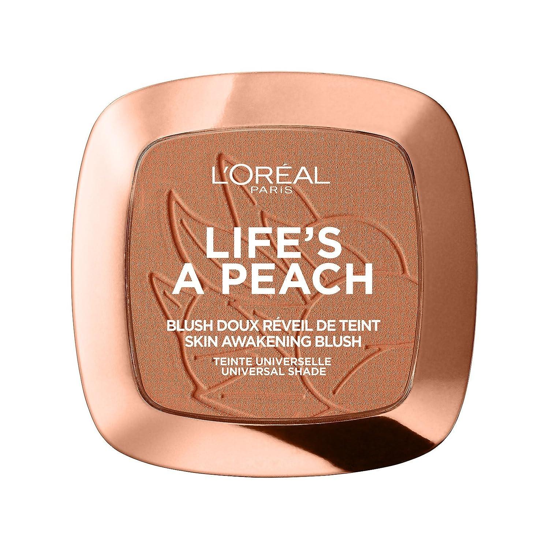 L'Oréal Paris Blush in Polvere Life's a Peach, Pelle Idratata, Effetto Radioso con Estratto di Pesca, 01 Eclat Pêche L' Oréal Paris 3600523560813