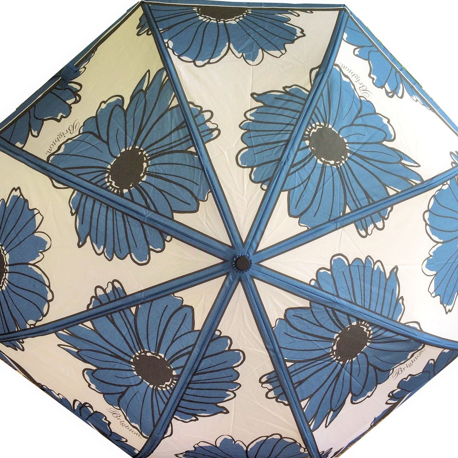 Brighton Showers of Flowers Blue 36 Pocket Compact Umbrella