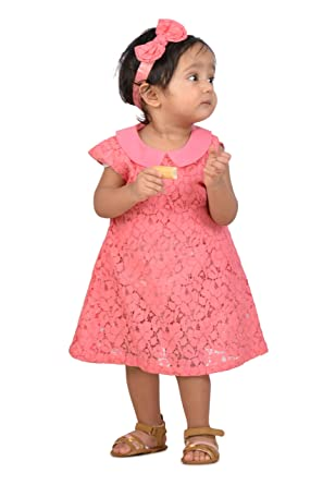 37b41a46d6c9 KidsDew Party Wear Baby Girls Net Frock Dress Kids Casual Dress Pink ...