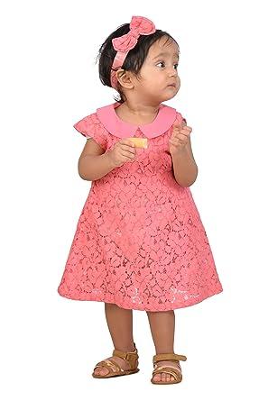 49f635036 KidsDew Party Wear Baby Girls Net Frock Dress Kids Casual Dress Pink ...