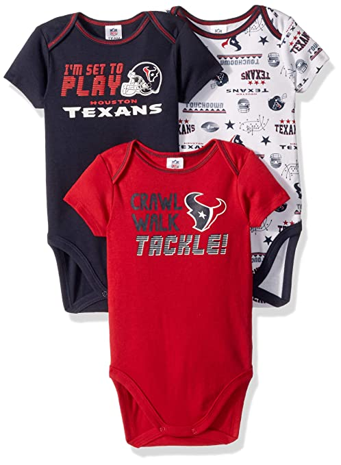 Image Unavailable. Image not available for. Color  NFL Houston Texans  Unisex-Baby 3-Pack Short Sleeve Bodysuits ... 0a09fb88e