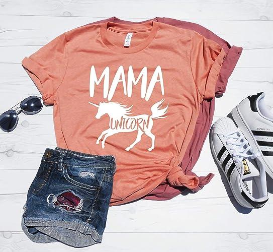 7b3a4c0a Amazon.com: Mama Unicorn Shirt, Mom Unicorn, Mom Unicorn T-Shirt, Mom  Birthday Party Outfit, Unicorn Theme Birthday Party, Unicorn Mommy Shirt:  Handmade