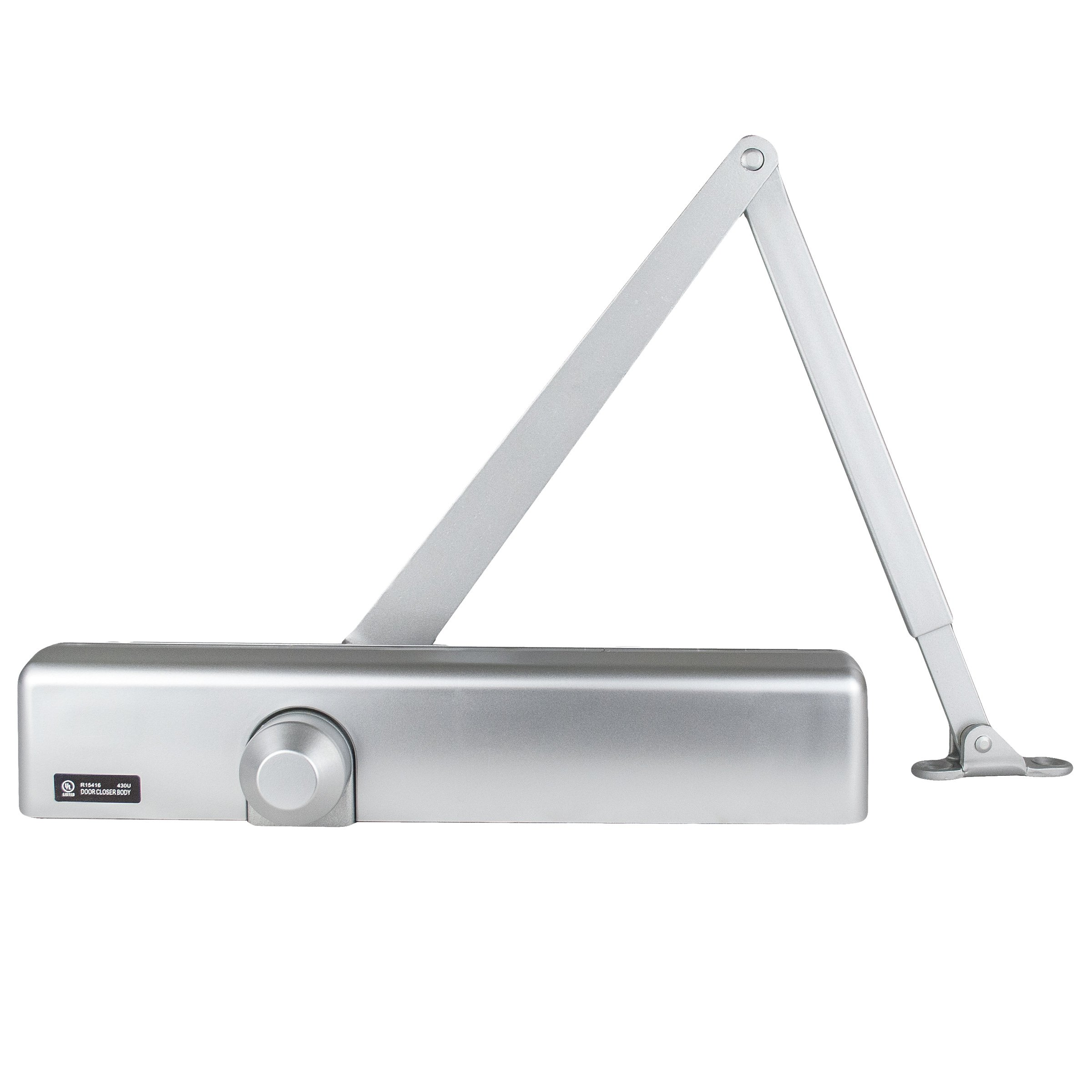 Global Door Controls Slimline Heavy Duty Commercial Door Closer in Aluminum - Sizes 1-6