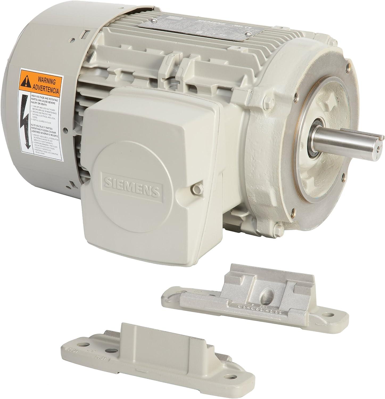 Siemens 1LE21212AB214EA3 10-HP 1800 Rpm 208 230/460-volt 215tc General Purpose Electric Motor Nema Premium Efficient Aluminum Frame, Aluminum Rotor