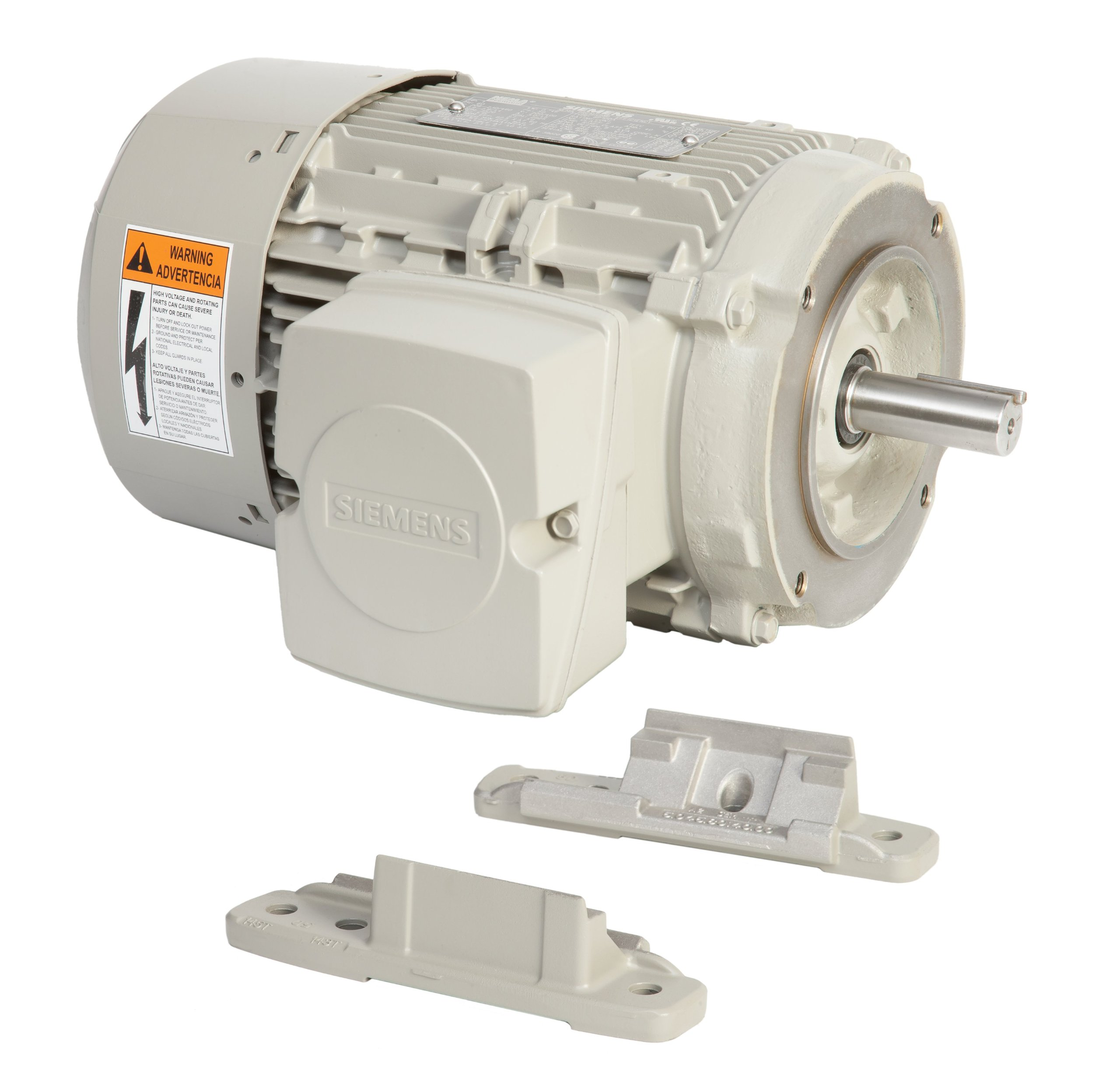 Siemens 1LE21212BA214EA3 20-HP 3600 Rpm 208 230/460-volt 256tc General Purpose Electric Motor Nema Premium Efficient Aluminum Frame, Aluminum Rotor by Siemens