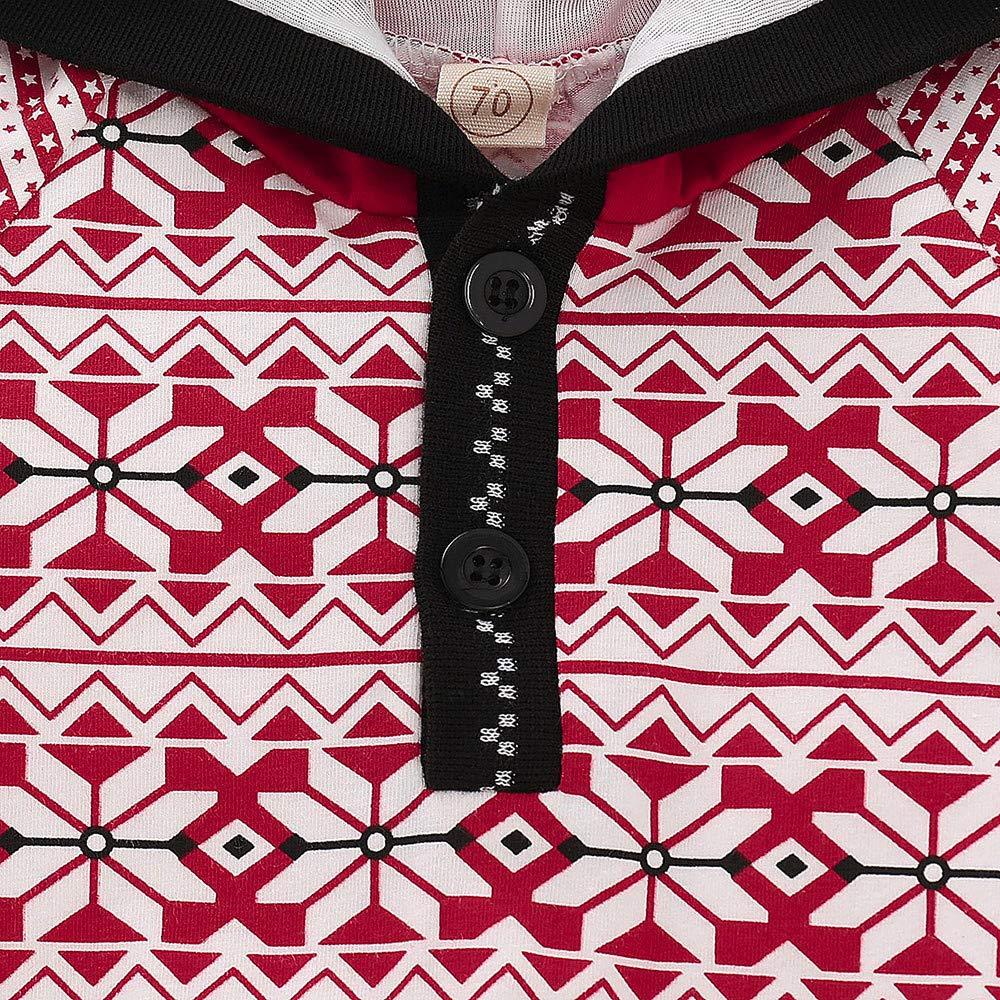 KaiCran Unisex Baby Layette Romper Cotton Geometric Hoodie Jumpsuit Onesies with Tassel