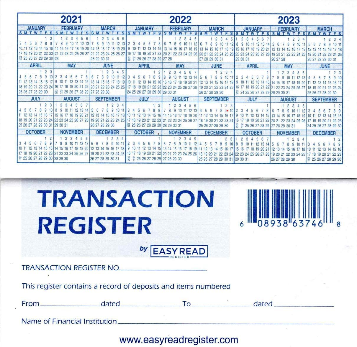 Amazon Com 12 Check Registers For Personal Checkbook Checkbook Ledger Transaction Registers Log For Personal Or Business Bank Checking Account Saving Account Deposit Credit Card And Large Booklet Office Products