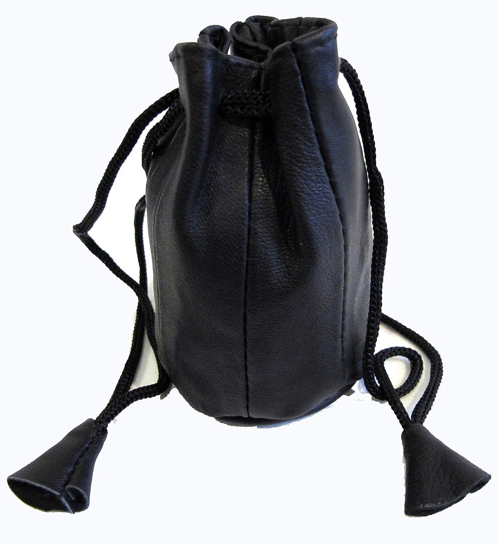 2個セット ソフトラムスキンレザーコインバッグ 巾着式クロージャーブラックカラー $7.99   B016R5V5VY