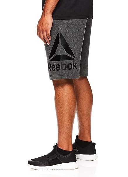 569aed9cbd0 Reebok Men s Lifestyle Shorts - Running Gym  amp  Workout Short w Elastic  Drawstring Waistband
