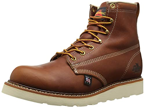"Thorogood 6"" Plain Toe Boot - Botas de cuero para hombre, color marrón,"
