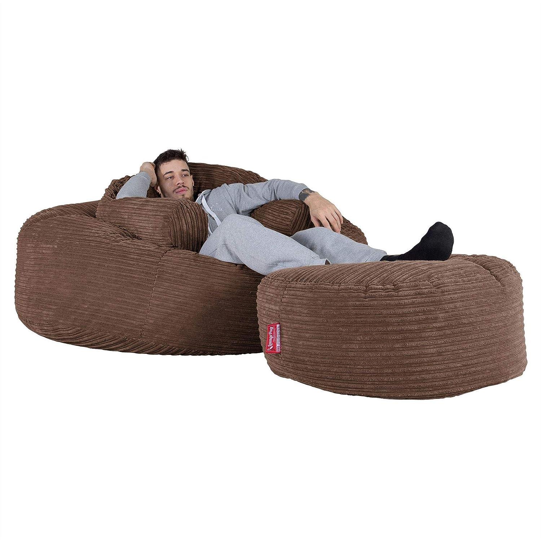 Lounge Pug Mega Mammoth Sofa Sitzsack Xxl Schlafsofa Cord Mocca