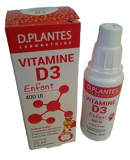 D plantes - Vitamina D3 para niños - Botella 20 ml - 400 UI