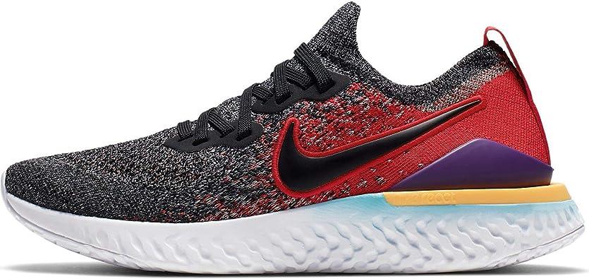 tiempo diagonal especificación  Nike Epic React Flyknit 2 (GS), Zapatillas de Atletismo para Niños,  Multicolor (Black/Black/Hyper Jade/University Red 7), 35.5 EU: Amazon.es:  Zapatos y complementos