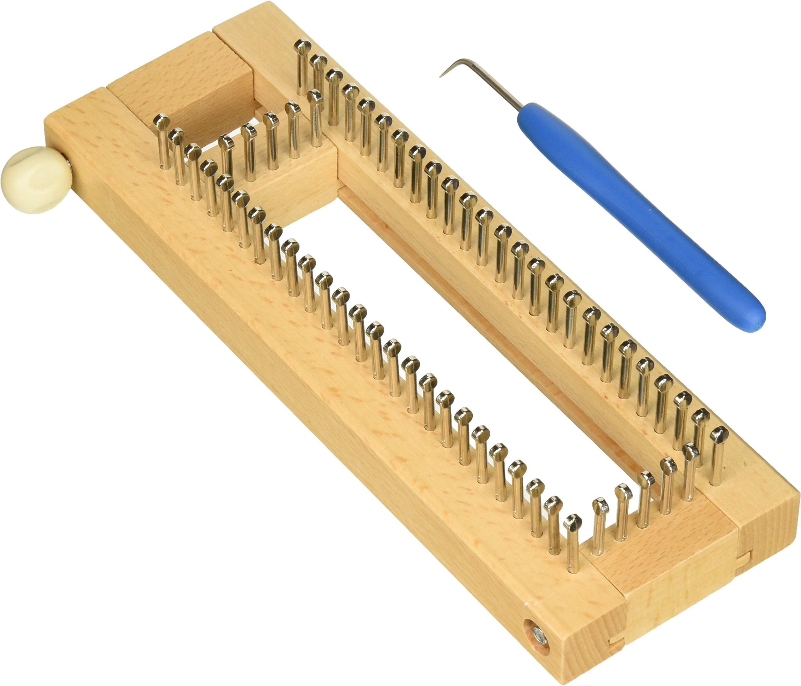 KB Sock Loom Adjustable Wood Knitting Board Kit w/DVD