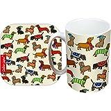 Selina-Jayne Dachshund Limited Edition Designer Mug and Coaster Gift Set