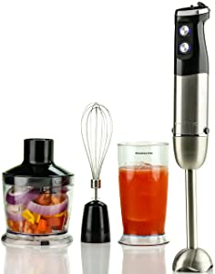 Ovente Multi-Purpose Immersion Hand Blender (HS685B - Black)