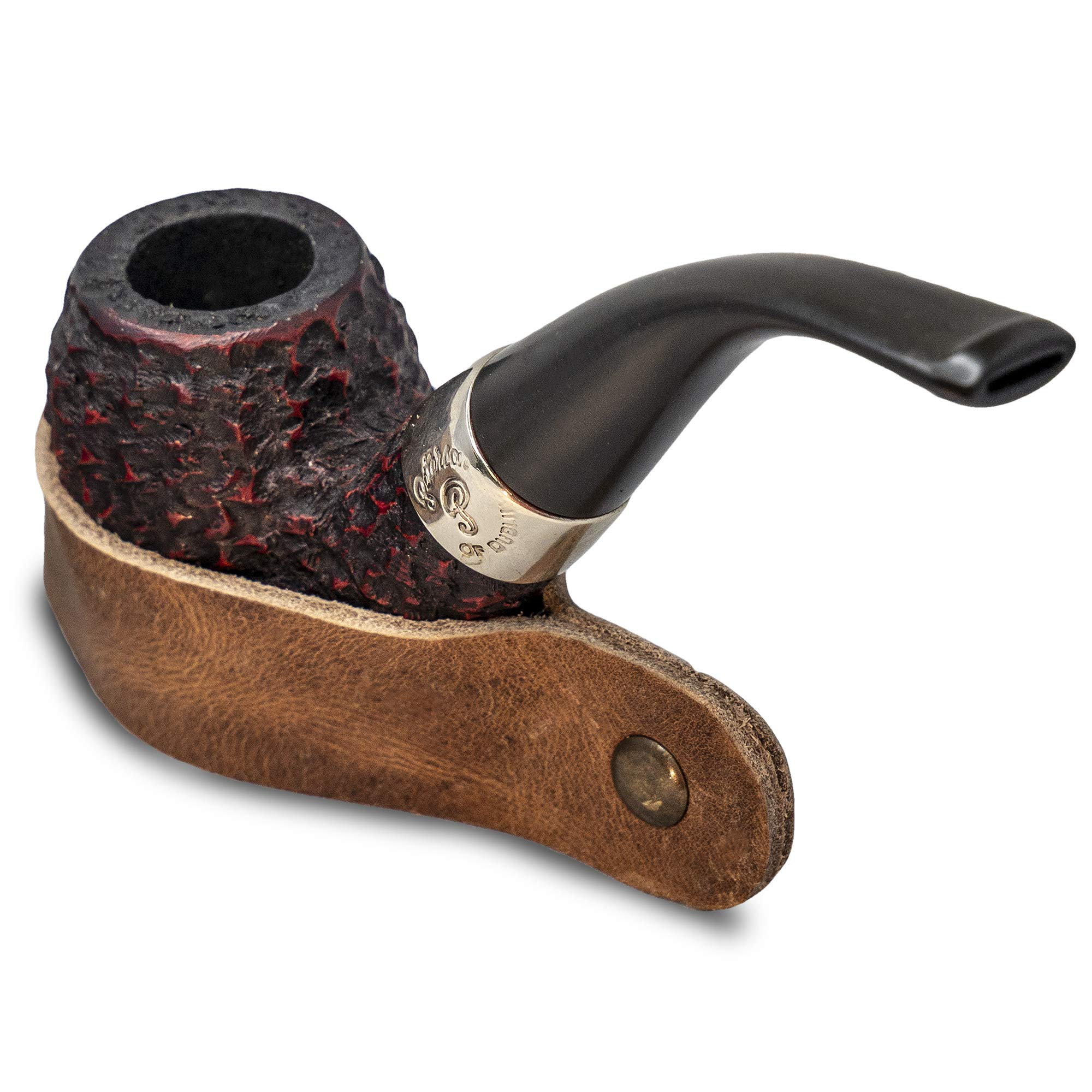 Leather Tobacco Pipe Stand - for Smoking Pipes Handmade Fair Wage in Central America by BRIAR AND OAK WWW.BRIARANDOAK.COM
