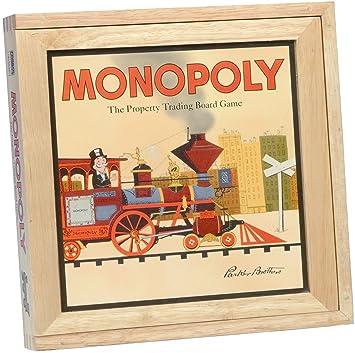 Monopoly - Juego de mesa con caja de madera [Importado de ...