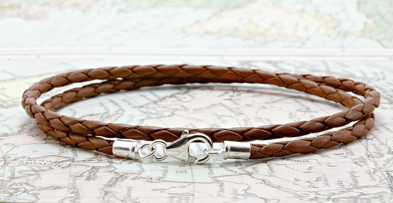Mens Bracelet-Ladies Bracelet-5mm Natural Cork wristband-Sterling Silver Clasp