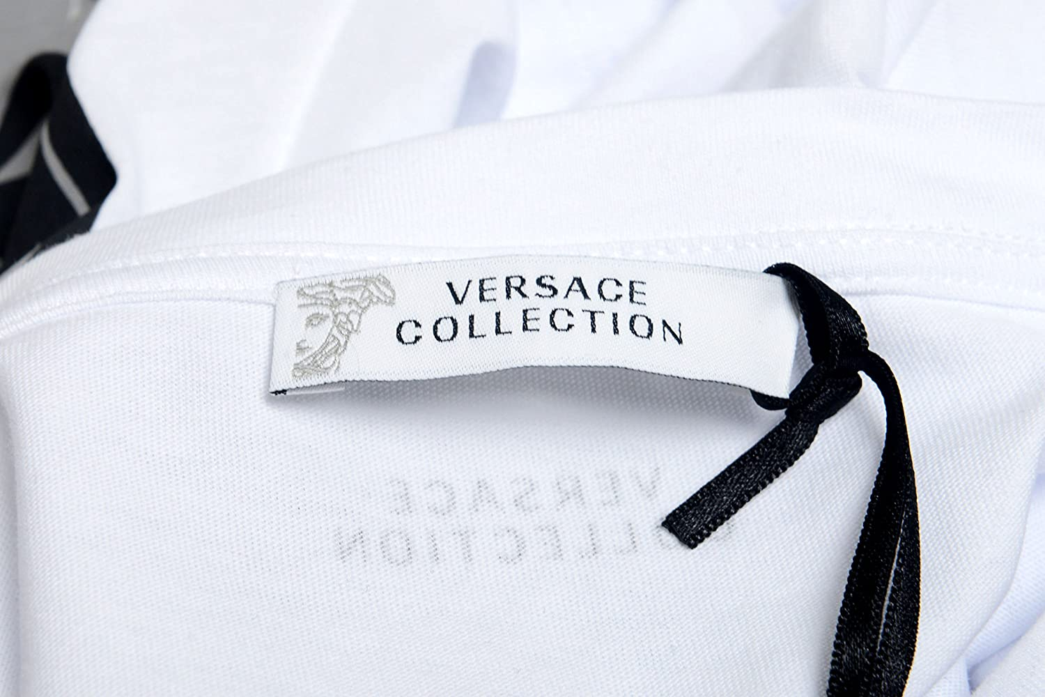 Versace Collection Mens White Graphic Print T-Shirt US XL IT 54;
