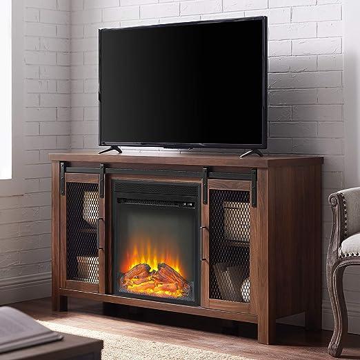 WE Furniture Fireplace - Soporte para televisor (48