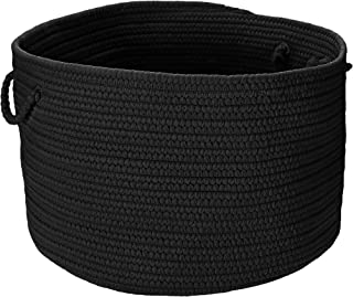 product image for Colonial Mills BR42 18 by 18 by 12-Inch Boca Raton Solid Storage Basket, Black