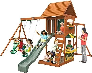 Amazon.com: Big Backyard Sandy Cove Wooden Playset: Toys ...