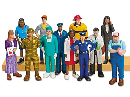 amazoncom lakeshore community pretend and play people toys games - Community Workers